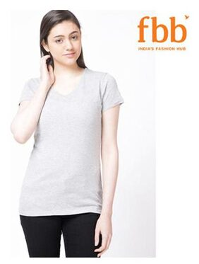 DJ&C Solid Grey T Shirt