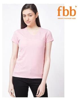 DJ&C Solid Pink T Shirt
