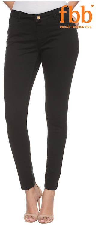 a51a7719607821 Buy DJ&C Solid Women's Black Jeggings Online at Low Prices in India ...