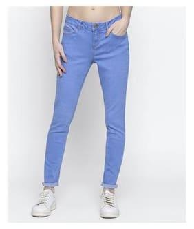 DJ&C Women Regular Fit High Rise Solid Jeans - Blue