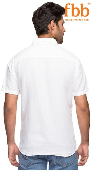 amp Slim C Casual White DJ Solid Fit Shirt pHYHaFeW6j