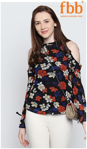 Women Floral Round Neck Top