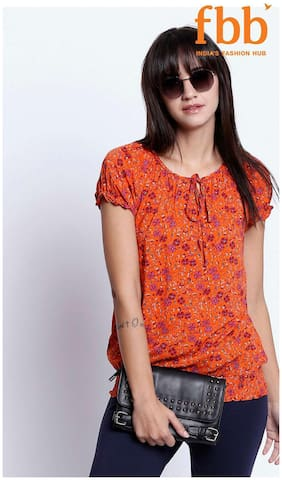 Women Printed Tie-up Top