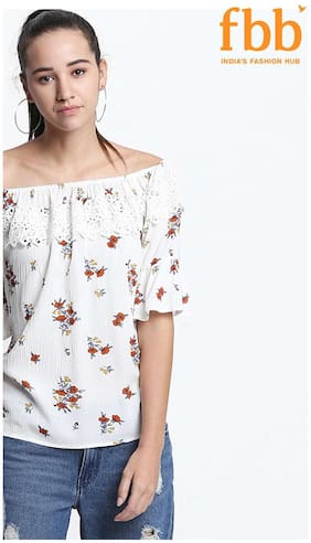 Women Floral Off-Shoulder Top