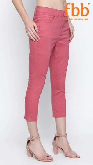 Solid DJ Womens Pink amp;C Jeans Cropped qqZtAwU
