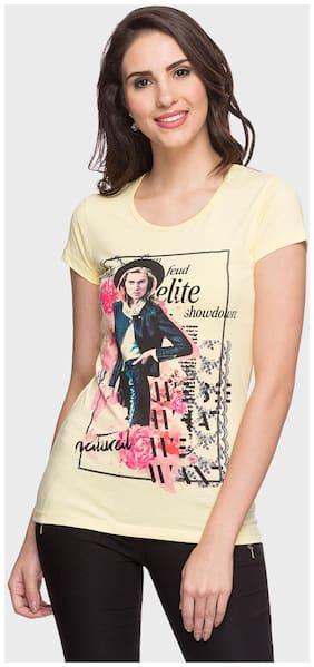 DJ&C Printed Yellow T Shirt