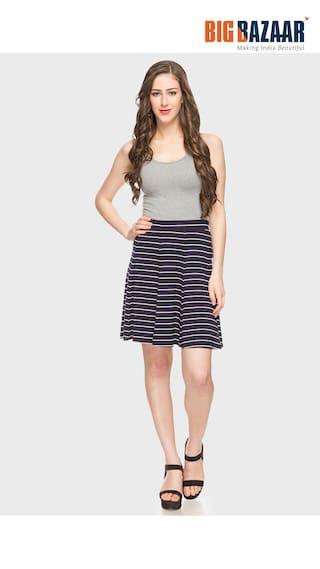 amp DJ Womens A C Skirt Stripes Line Blue Q1xOAwMv