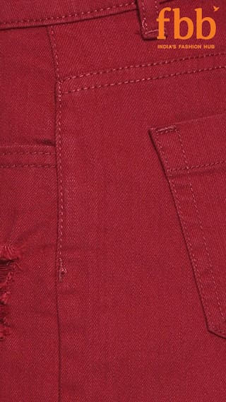 Solid Shorts amp;C Womens Red DJ Distressed ZqPtw446
