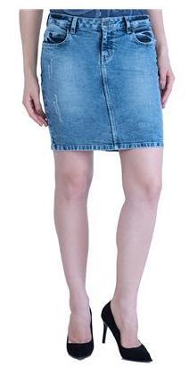 DJ&C Womens Blue Indigo Solid Skirt