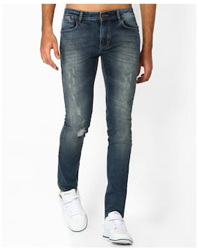Dnmx By Reliance Trends Men Blue Blended Jean