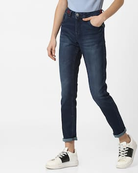 DNMX By Reliance Trends Women Regular Fit Mid Rise Jeans - Blue