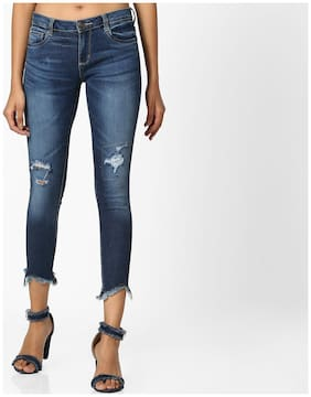 DNMX By Reliance Trends Women Slim Fit Mid Rise Jeans - Blue