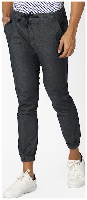DNMX By Reliance Trends Men Blue Casual Trouser
