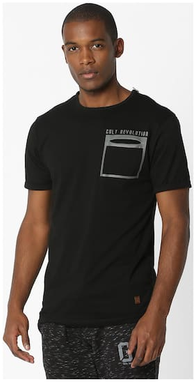 DNMX By Reliance Trends Black Tshirts
