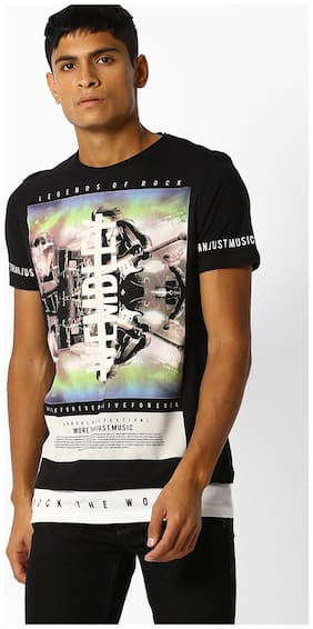 DNMX By Reliance Trends Black T-Shirt