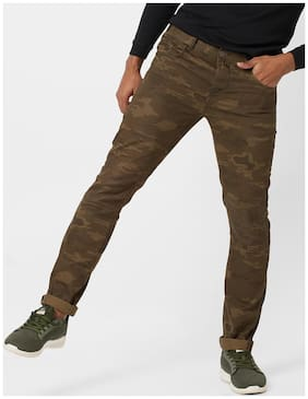 DNMX By Reliance Trends Green Casual Trouser