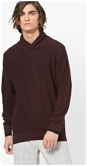 DNMX By Reliance Trends Men Cotton Sweater - Maroon