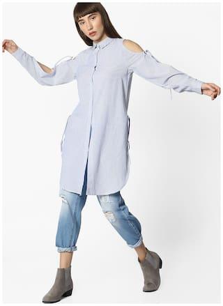 DNMX By Reliance Trends Women Regular Fit Shirt - Blue