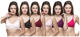 Docare Womens Multicolor Bra - ( Pack of 6 )