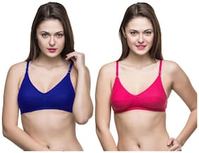 Docare Womens Multicolor Bra - ( Pack of 2 )