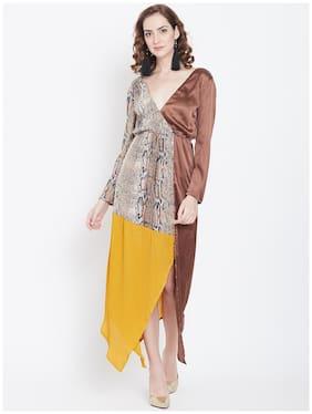DODO & MOA Multi Animal print Wrap dress
