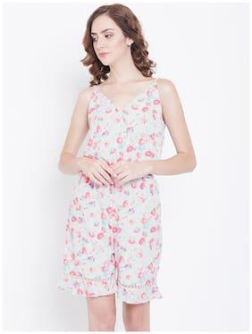 DODO & MOA Floral Jumpsuit - White