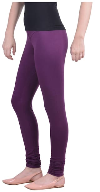 3074de7a084e3 Buy Dollar Missy M Purple Color Churidar Legging Online at Low ...