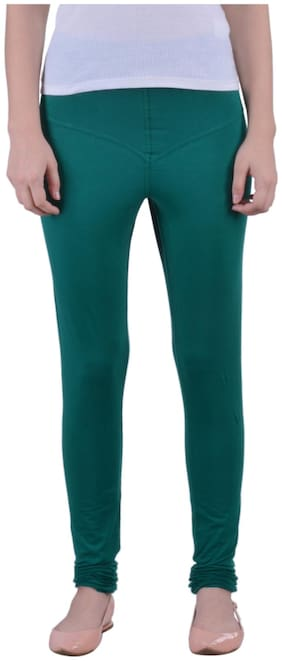 Dollar Missy Cotton Leggings - Green