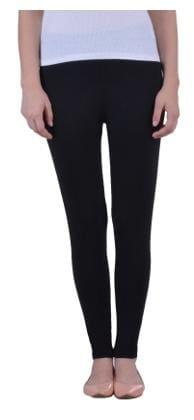 0653ea9fd8 Dollar Missy Women s Cotton Slim Fit Black Ankle Length Leggings