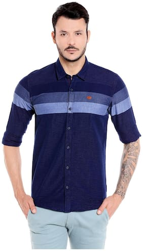 Donear NXG Men Slim Fit Casual shirt - Blue