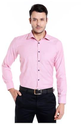 Donear NXG Men Slim Fit Formal Shirt - Pink