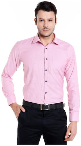 Donear NXG Men Slim fit Formal Shirt - Pink