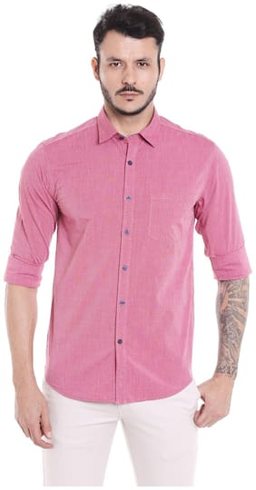 Donear NXG Men Slim fit Casual shirt - Pink