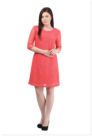 67eaf40e2e17 Buy Mayra Pink Beautiful Dress For Women Online at Low Prices in ...