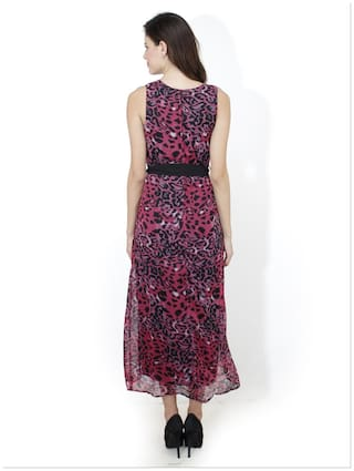 Pink Mayra Georgette Dress Women For PwCOW7qwH
