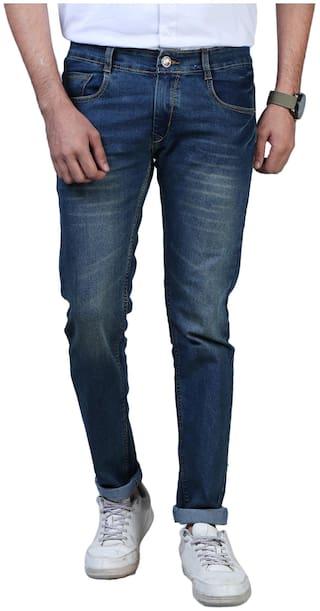 Shopjinie Men Blue Regular Fit Jeans