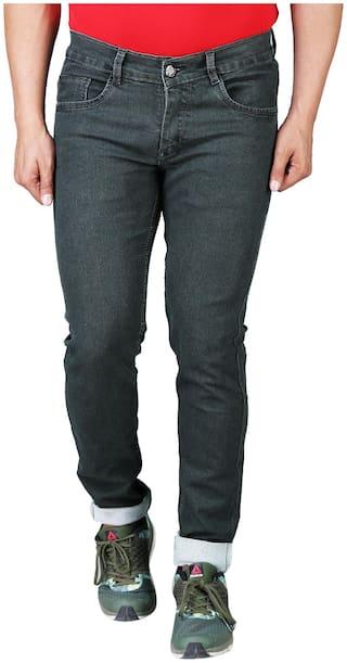 DRRAGON Men Green Slim Fit Jeans