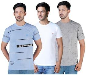 Shopjinie Men Slim fit Round neck Printed T-Shirt - Multi