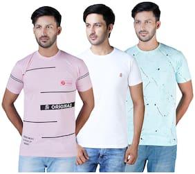 Shopjinie Men Multi Slim fit Cotton Round neck T-Shirt - Pack Of 3