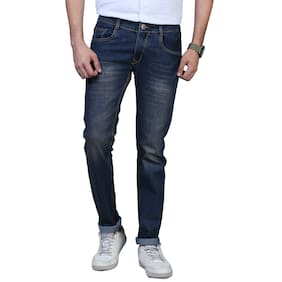 DRRAGON Men's Regular Fit Denim Jeans (Blue)