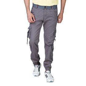 Drragon Men Grey Cargos-With Belt