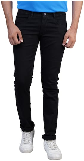 DRRAGON Men Mid rise Slim fit Jeans - Black