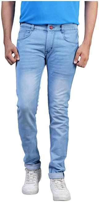 Shopjinie Men Mid rise Slim fit Jeans - Blue