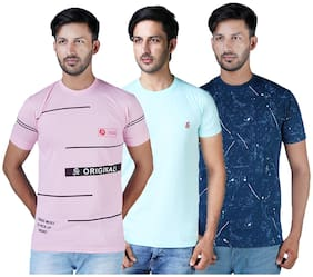 Men Round Neck Printed T-Shirt Pack Of 3