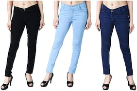 Women Slim Fit Jeans Pack Of 3