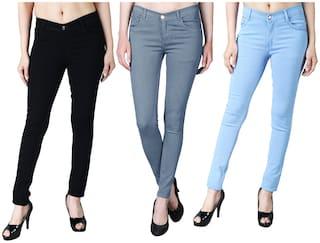 DRRAGON Women Multi Slim fit Jeans