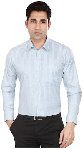 Dudlind 2.5 Collar Shirt Full Sleeves-Colour Blue-Size