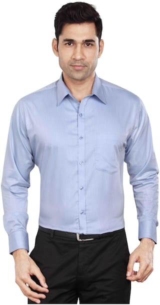 DUDLIND Men Slim fit Formal Shirt - Blue