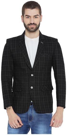 Duke Men Nylon Regular fit Blazer - Black