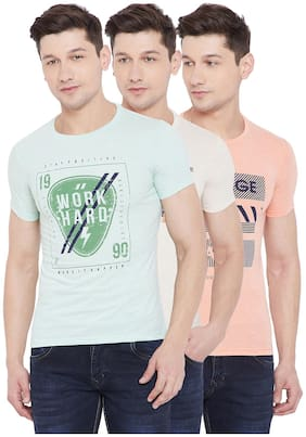 Duke Men Slim fit Round neck Printed T-Shirt - Multi